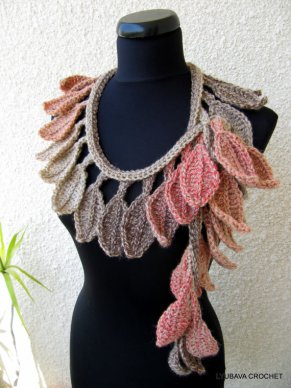 autumn leaves fall crochet scarf pattern