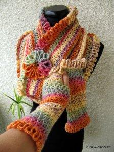 "crochet scarf pattern ""Happy Autumn Colours"""
