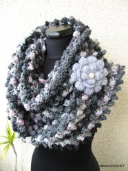 grey scarf crochet pattern