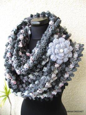 grey scarf crochet pattern