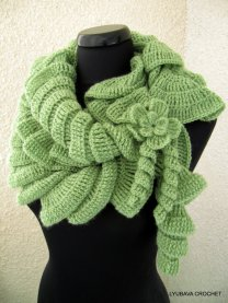 Ruffle Scarf crochet pattern