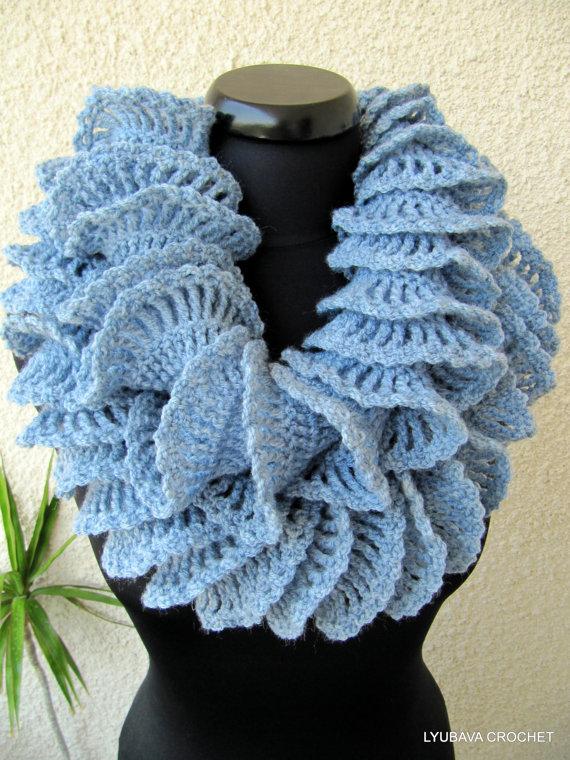 Crochet Ruffle Scarf Crochet Pattern Lyubava Crochet