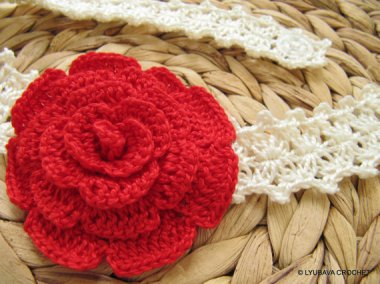 Rose Flower Headband