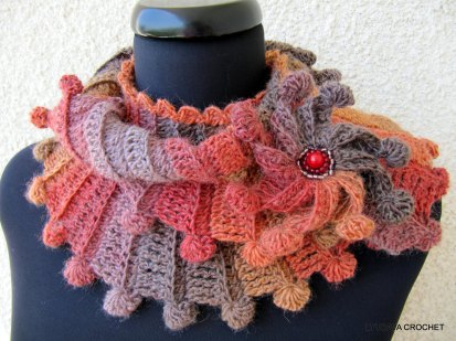 "Crochet Pattern Scarf ""Fantasy"""