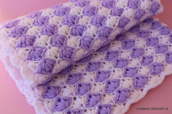 Gorgeous Crochet Baby Blanket Ready To Ship