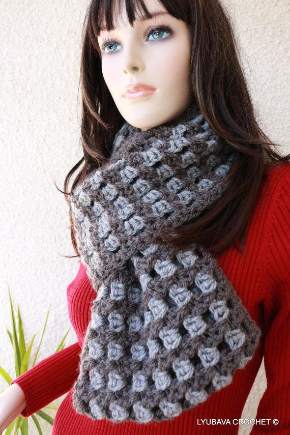 Crochet Chunky Infinity Scarf