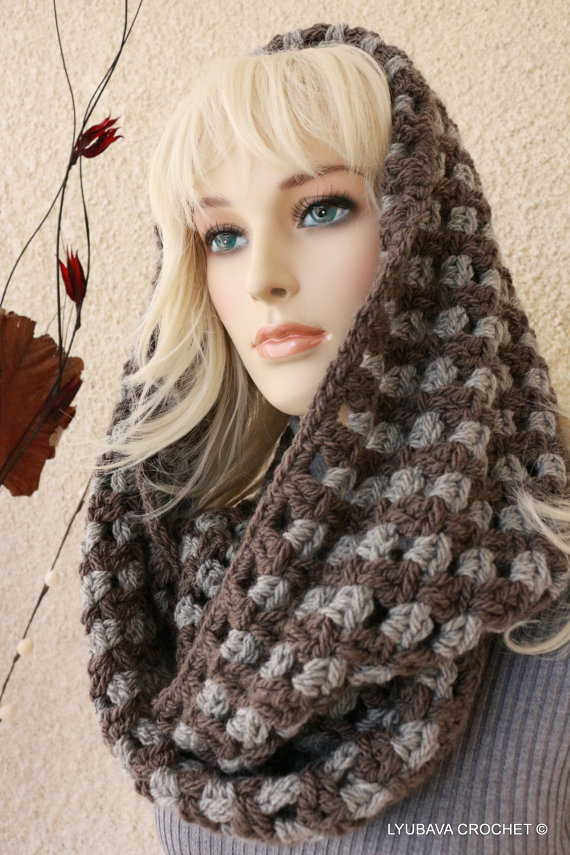 Infinity Chunky Two Tone Scarf