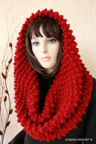 crochet cowl scarf chunky crochet pattern