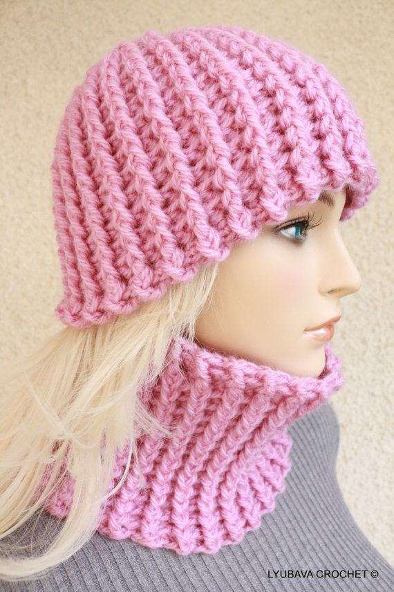 Easy Crochet Hat & Neck Warmer