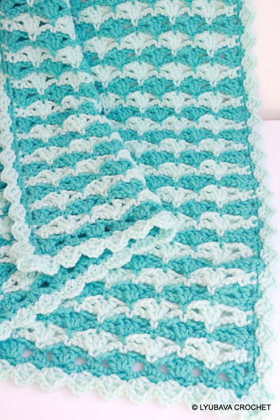 Crochet Baby Blanket Turquoise