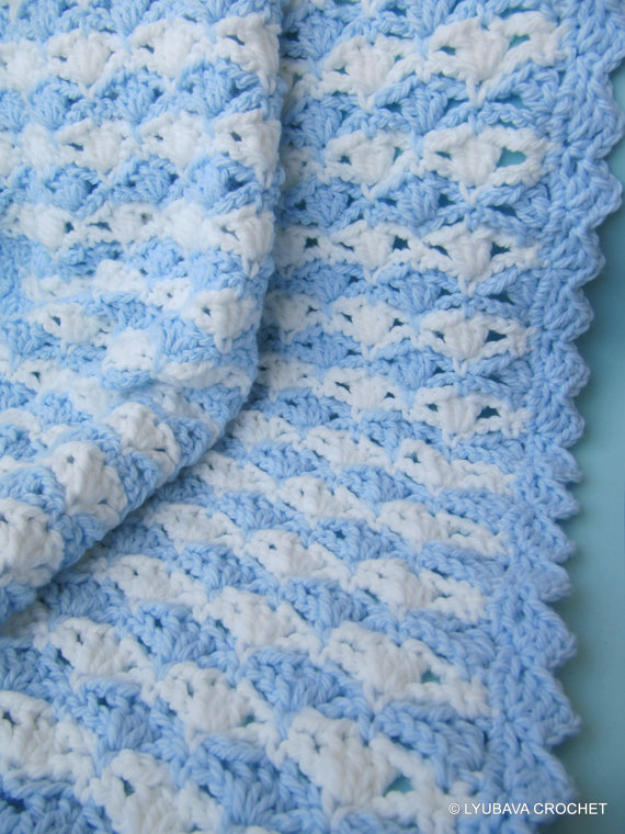 Chunky Baby Blanket Crochet Pattern Its A Boy Lyubava Crochet