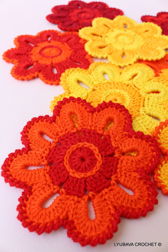 Crochet Flower Coaster Tutorial Crochet Pattern