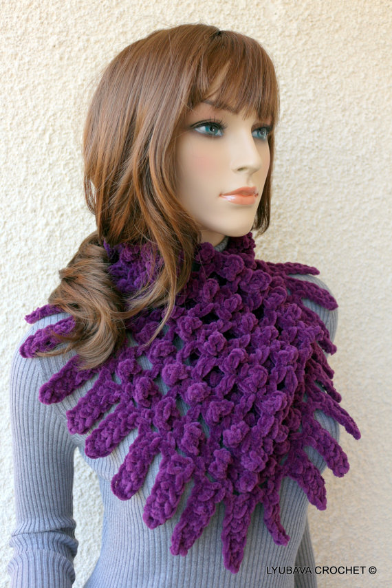New Crochet Pattern - Easy Scarf Cowl Chunky Fringe