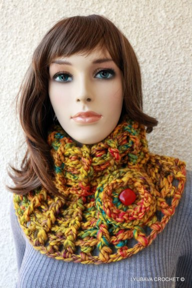 mustard crochet cowl crochet pattern