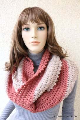 crochet circle scarf pattern