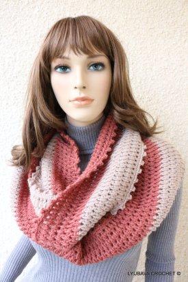 crochet circle scarf pattern