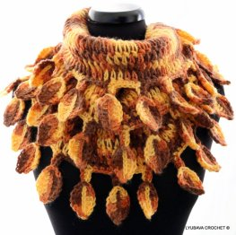 crochet leaves scarf crochet pattern