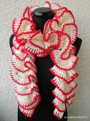 lyubava crochet ruffle scarf