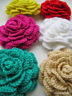crochet rose flower pattern