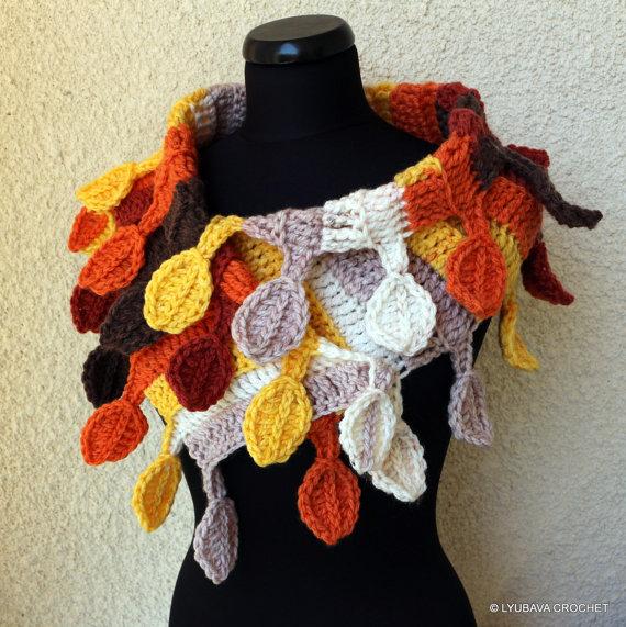 Scarf Autumn – LYUBAVA CROCHET