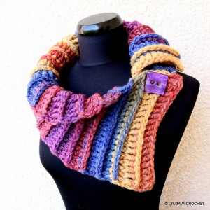 multicolor chunky crochet scarf pattern